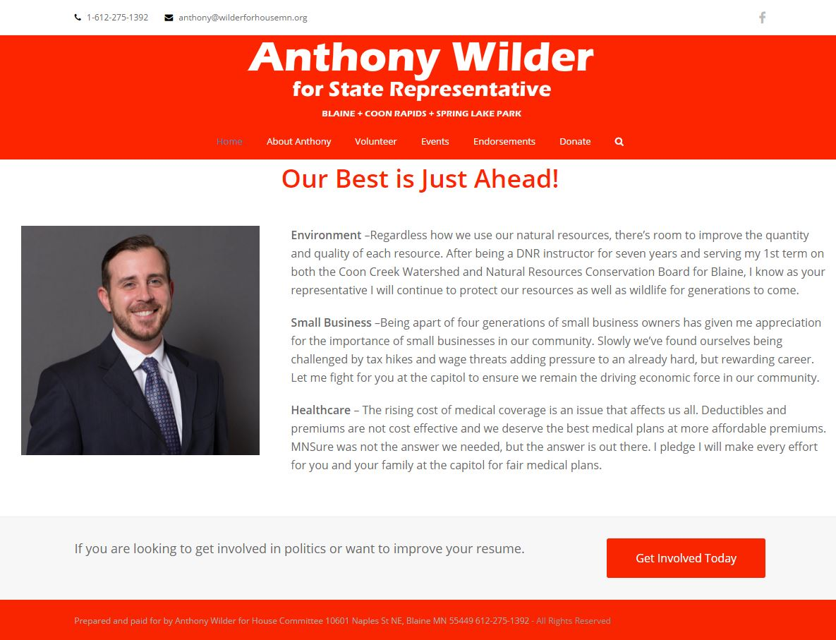Anthony for house MN
